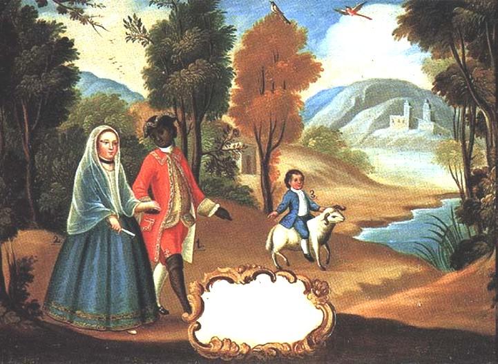 Paintings mestizo spanish