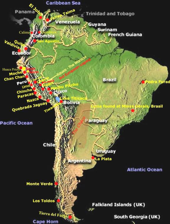 South America Introduction To Flora And Fauna Ancient Man: South America Andes Mountains Map At Usa Maps