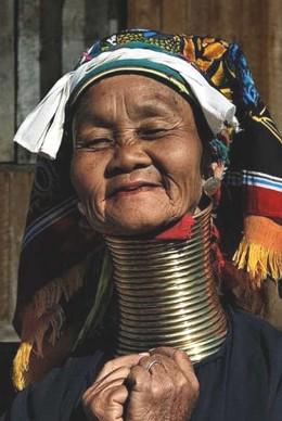 Neck rings myanmar celebrity
