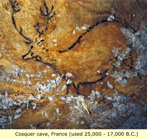 cave art lascaux cosquer cave